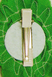 Βρεφικό παιδικό κλιπ μαλλιών πράσινο