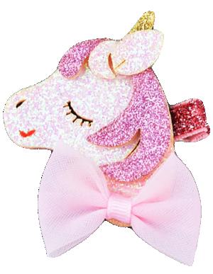 Βρεφικό παιδικό Κλιπ μαλλιών ροζ μονόκερος
