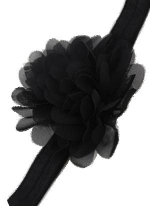 Βρεφική παιδική κορδέλα μαλλιών μαύρη