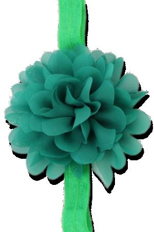 Βρεφική παιδική κορδέλα μαλλιών πράσινη