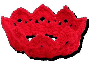Βρεφική πλεκτή κορώνα κόκκινη