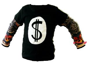Βρεφικό παιδικό μπλουζάκι tattoo μανίκια