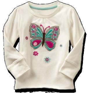 Βρεφικό παιδικό μπλουζάκι λευκό με πεταλούδα