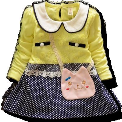 Βρεφικό παιδικό μπλουζοφόρεμα κίτρινο Γατούλα