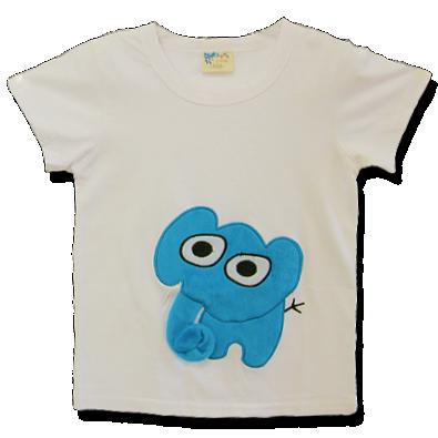 Βρεφικό παιδικό λευκό μπλουζάκι Ελεφαντάκι