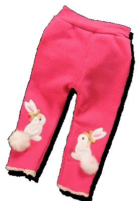 Βρεφικό παντελόνι φούξια με κουνελάκι