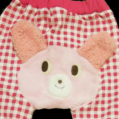 Βρεφικό παντελόνι φούξια καρό αρκουδάκι