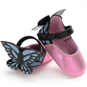 Ροζ βρεφικές μπαρέτες πεταλούδα