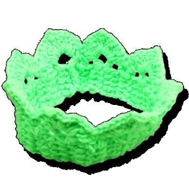 Βρεφική πλεκτή κορώνα πράσινη