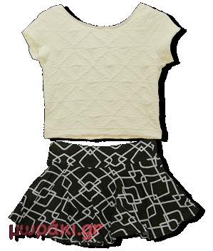 Βρεφικό παιδικό σετ μπλουζάκι με φούστα