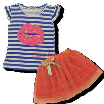 Βρεφικό παιδικό σετ μπλούζα με φούστα