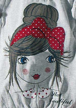 Βρεφικό παιδικό σετ μπλούζα με πουά κολάν