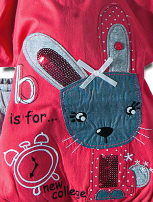 Βρεφικό παιδικό σετ μπλουζάκι φούξια με κολάν