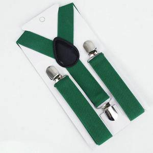 Παιδικές τιράντες πράσινο σκούρο χρώμα ρυθμιζόμενες