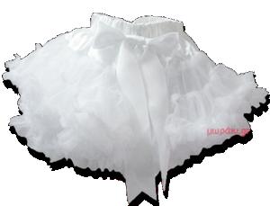 Βρεφική παιδική φούστα τουτού λευκή